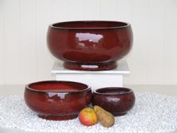 red glaze pot