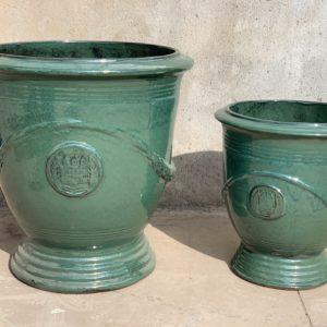 Glazed urn