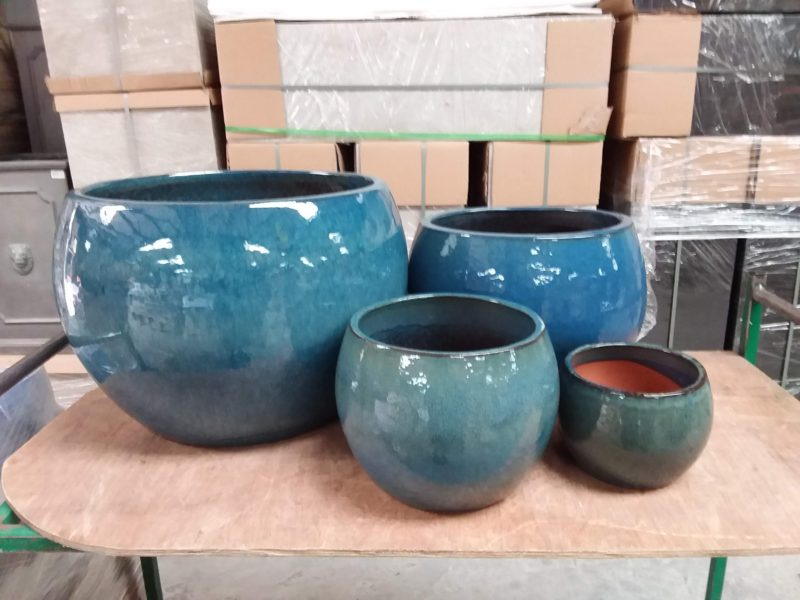 Blue glazed